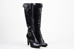 Louis Vuitton Leather Black Boots