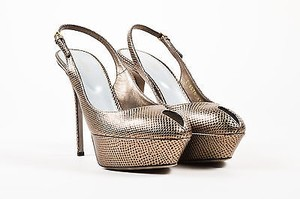 Sergio Rossi Leather Silver Pumps