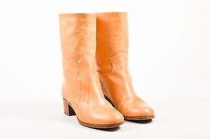 Chanel Light Leather Tan Boots