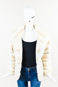 Other Mr3 Gray Fur Long Sleeve High Crop Coat