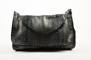 Bottega Veneta Black Gunmetal Cross Body Bag