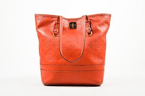 Louis Vuitton Empreinte Leather Monogram Citadine Pm Tote in Red