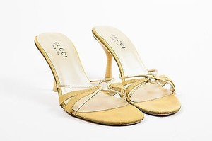 Gucci Tone Metallic Gold Sandals