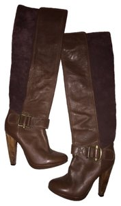 Brown Boots Wood Suede Comfortable Gold Brown Boots