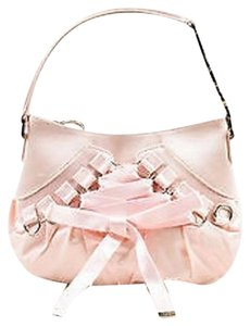 Dior Christian Light Satin Corset Silver Tone Handbag Shoulder Bag