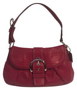 Coach Leather Red Handbag Shoulder Bag