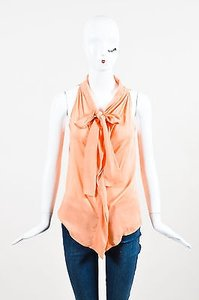 See by Chloé Chole Neck Tie Top Orange