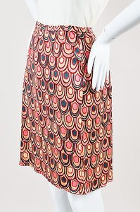Emilio Pucci Tan Navy Pink Skirt Multi-Color