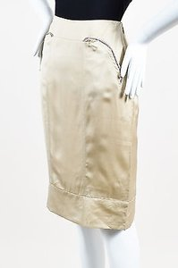Stella McCartney Khaki Silk Skirt Beige