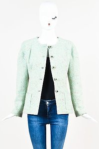 Chanel 01a Light Wool Green Jacket