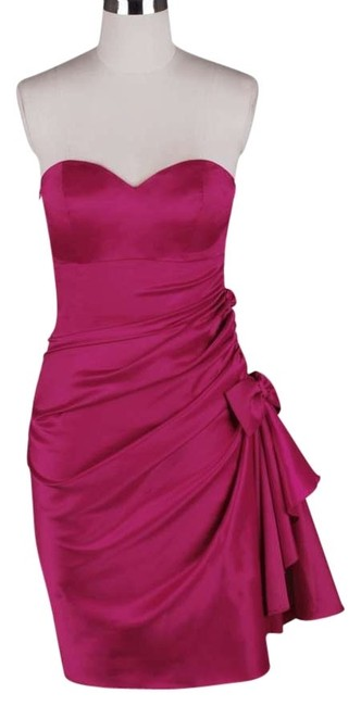 Preload https://img-static.tradesy.com/item/162263/pink-strapless-bunched-bow-satin-knee-length-formal-dress-size-22-plus-2x-0-0-650-650.jpg
