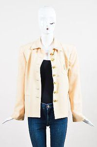 Dior Vintage Christian Pale Yellow Jacket