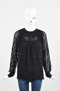 Yigal Azroul Azrouel Silk Top Black