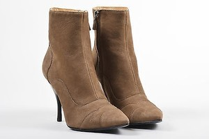Lanvin Leather Pointed Brown Boots