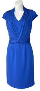Spense Crossover Drape Sheath Jersey Dress