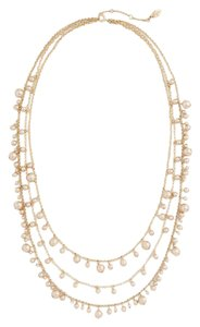 Ann Taylor Pearlized Layered Necklace