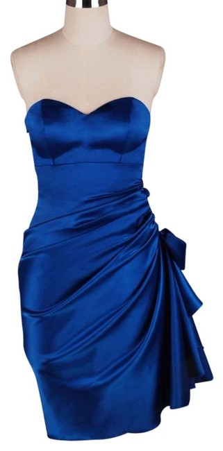 Preload https://img-static.tradesy.com/item/162269/blue-strapless-bunched-bow-satin-knee-length-formal-dress-size-22-plus-2x-0-0-650-650.jpg