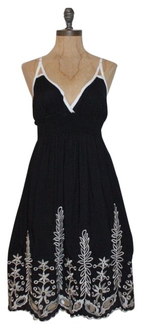 Preload https://img-static.tradesy.com/item/16227562/jaloux-black-embroidered-short-casual-dress-size-6-s-0-1-650-650.jpg