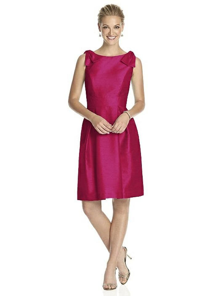 85d032501c1 Alfred Sung Sangria Pink Red Dupioni D626 Modern Bridesmaid Mob Dress Size  10 (M ...