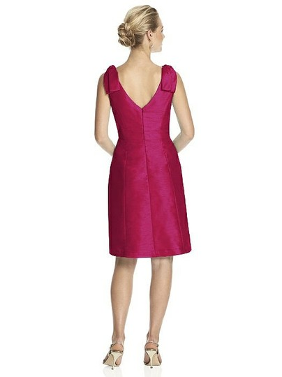 Alfred Sung Sangria Pink Red Dupioni D626 Modern Bridesmaid/Mob Dress Size 10 (M) Image 1