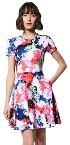 MILLY short dress Multicolor Floral on Tradesy