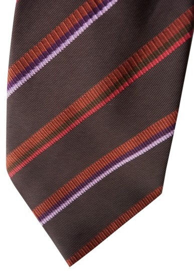 Canali Canali striped heavy silk tie