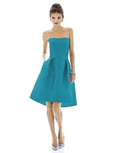 Alfred Sung Fusion Dupioni D580 Traditional Bridesmaid/Mob Dress Size 16 (XL, Plus 0x)