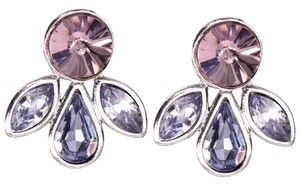 Givenchy Purple Faux Gem Earrings