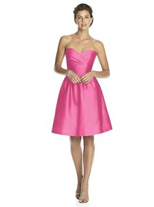 Alfred Sung Strawberry Peau De Soie D542 Feminine Bridesmaid/Mob Dress Size 6 (S)