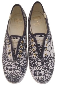 Kate Spade Tennis Flats Navy & White Athletic