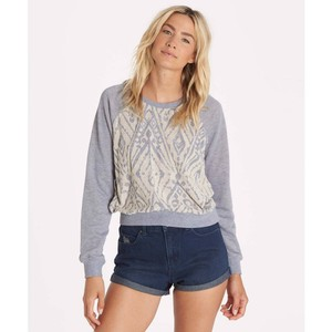 Billabong Crew Shrunken Cozy Print Sweater