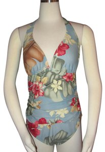 Tommy Bahama Tommy Bahama Size 12 Swim Bathing Suit Floral One Piece Ruched