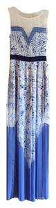 Haze Combo (blue and white) Maxi Dress by BCBGMAXAZRIA