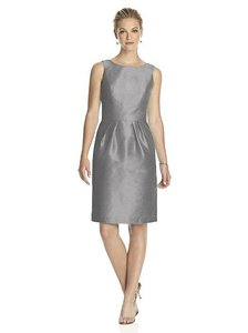 Alfred Sung Quarry Gray Dupioni D522 Traditional Bridesmaid/Mob Dress Size 10 (M)