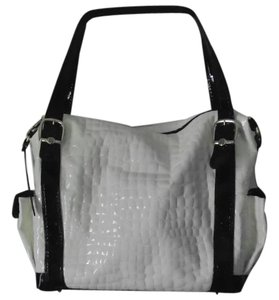 Marino Orlandi Vintage Unique Rare Tote in white & black