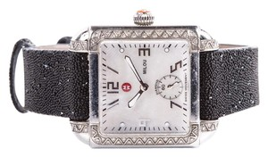 Michele Michele Black & Silver Watch