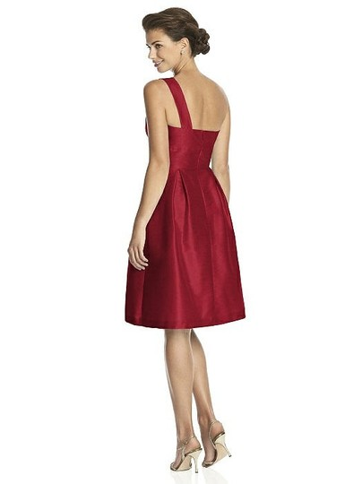 Alfred Sung Barcelona Red Dupioni D458 Modern Bridesmaid/Mob Dress Size 6 (S) Image 1