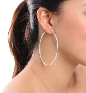 MBLife NEW 925 Silver Hoop Earrings - 70 mm diameter