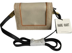 Hare + Hart & Mini Jute & Leather Convertible Jute/dove/sun bronze Clutch