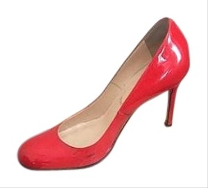 Christian Louboutin Red Pantent Leather Pumps