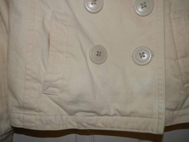 American Eagle Outfitters Cream Buttoned Pea Coat