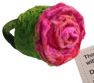 Handmade OOAK Recycled Paper Rose Ring