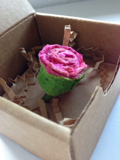 Other Handmade OOAK Recycled Paper Rose Ring