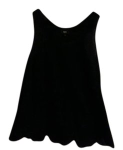 Mossimo Supply Co. Embroidered Tank Summer Top Black