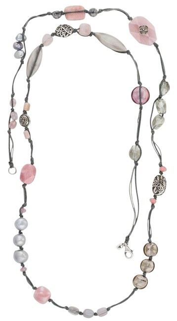 Item - Pink N2740 Soapstone Sterling Silver Necklace