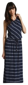Navy and Green Striped Maxi Dress by Michael Stars