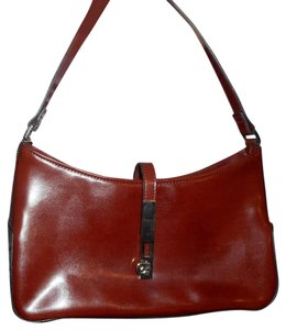 Other Leather Look Zip Closure Silver Metal Accent Baguette