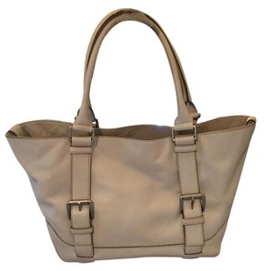 Michael Kors Handbag Leather Tote in Cream