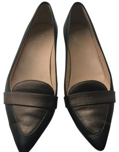 Cole Haan Grey Leather Black Flats