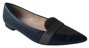 Cole Haan Grey Leather Work Black Flats
